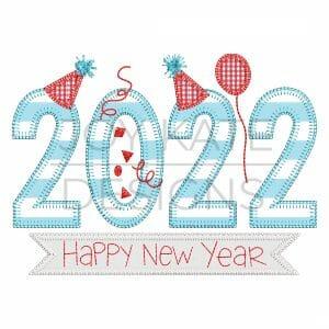 2022 New Year Blanket Stitch Applique Design