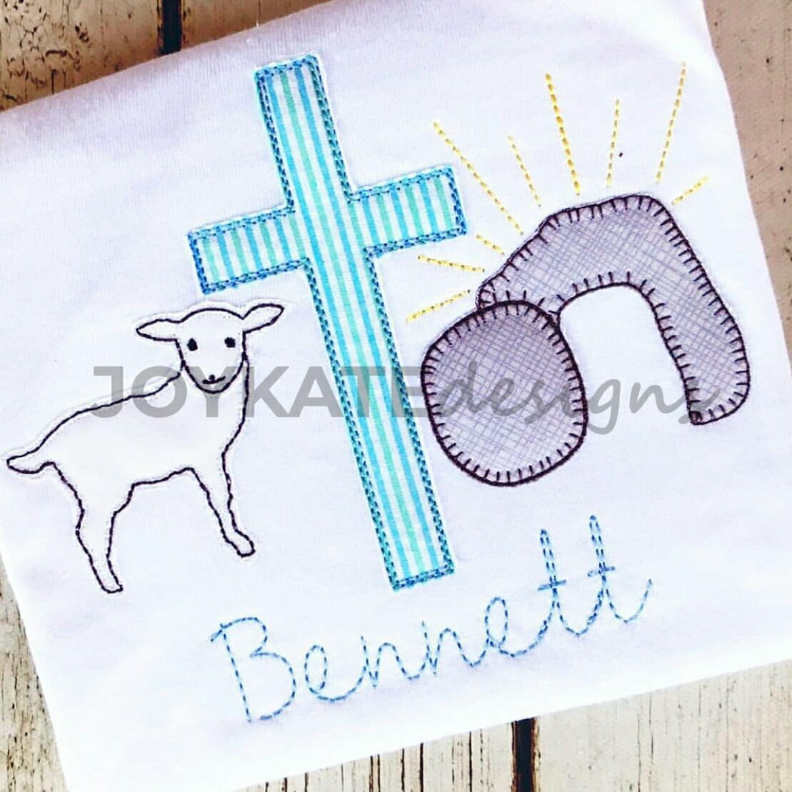 68fb600550ce04 Christian Easter Trio Vintage Applique Embroidery Design
