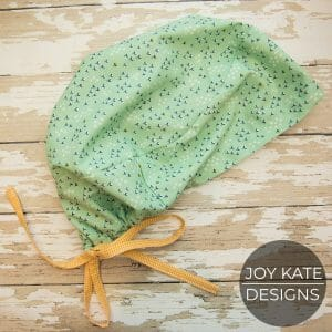 Scrub hat pattern for sewing machine
