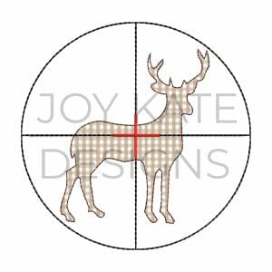 Hunting Bean Stitch Applique with Deer and Scope for Machine Embroidery