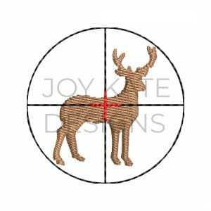 Mini Fill Stitch Hunting Design with Deer and Scope for Machine Embroidery