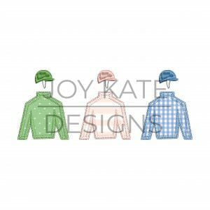 Blanket Stitch Jockey Silks Applique Design
