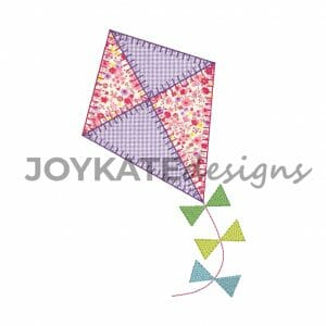 Spring Kite Applique with Light Fill Bows