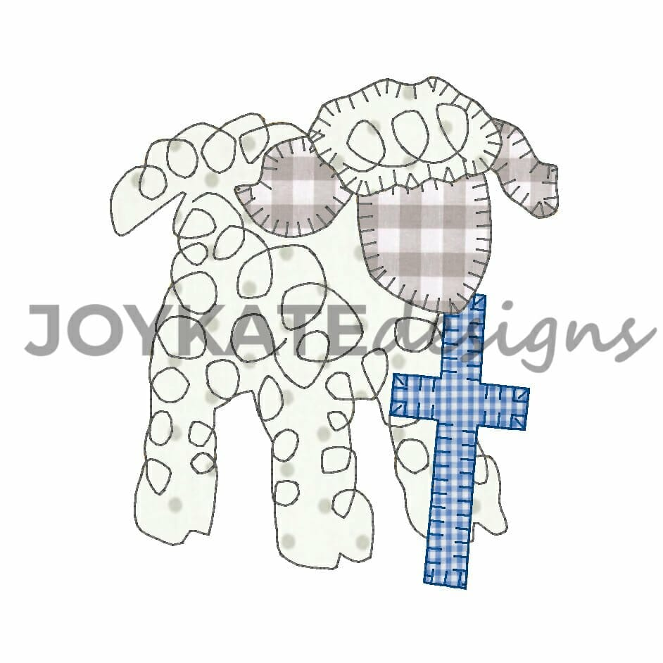 e7fa51a3a39951 Easter Lamb Bean Stitch and Hand Scribble Swirl Applique for Machine  Embroidery
