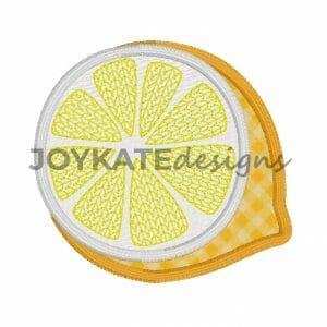 Lemon Applique Design for Machine Embroidery