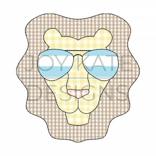 Lion with Sunglasses Applique Design for Machine Embroidery