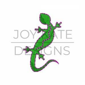Mini regular heavy fill lizard embroidery design
