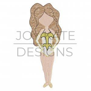 Louisiana Dancer Light Fill Design for Machine Embroidery