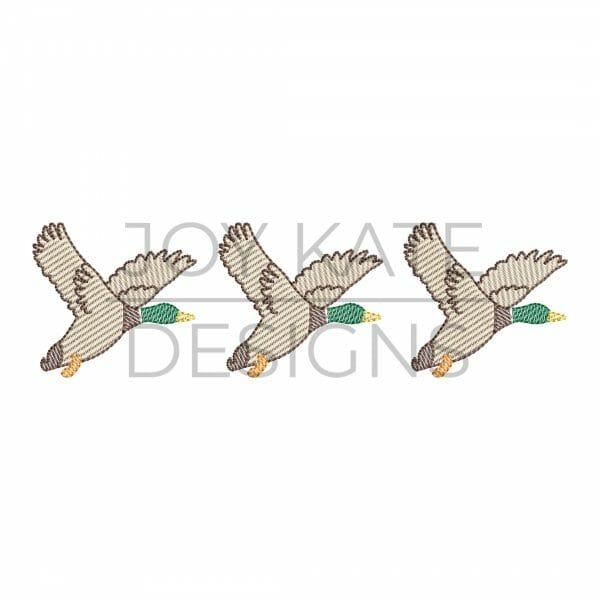 Duck trio light sketch fill machine embroidery design