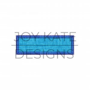 Vintage Blanket Stitch Mini Rectangle Applique Design for Machine Embroidery