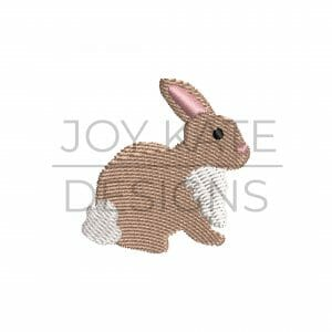 Mini Easter Bunny Fill Stitch Embroidery Design