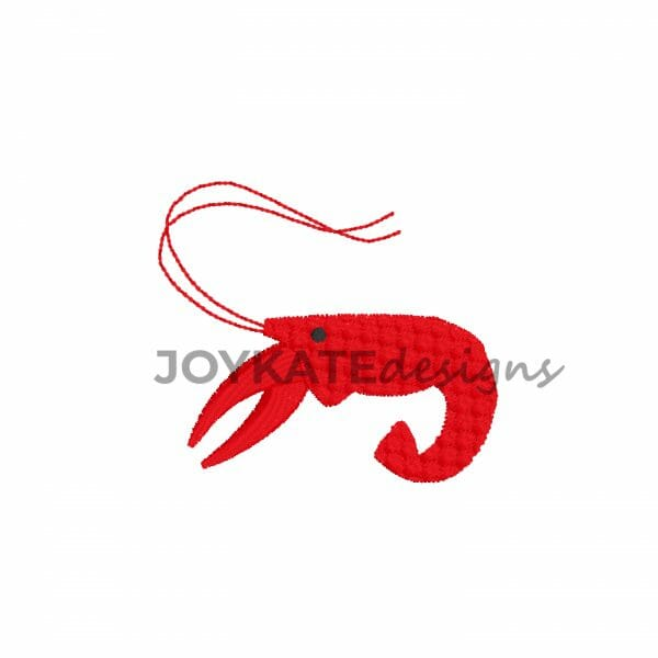 Mini Filled Stitch Crawfish Design for Machine Embroidery