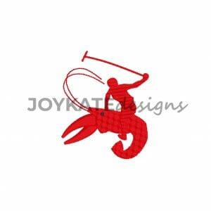 Mini Filled Stitch Polo Crawfish Design for Machine Embroidery