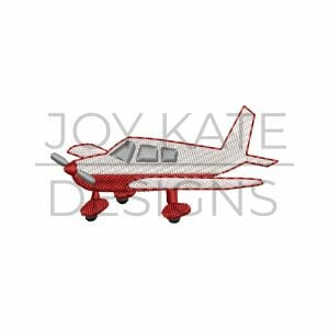 Mini Propeller Airplane Design for Machine Embroidery