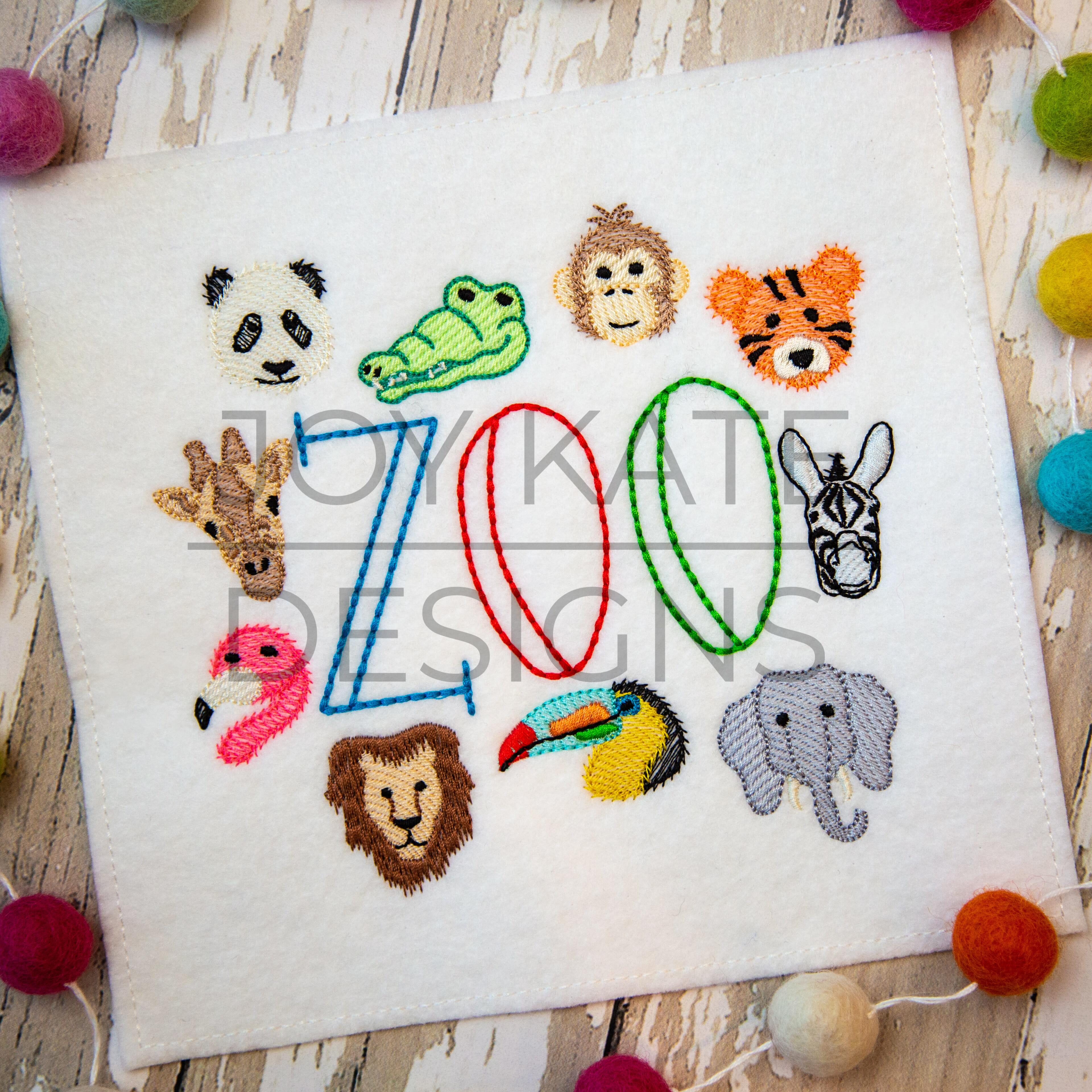 Little tiger Machine embroidery design Digitized file photo stitch Animals