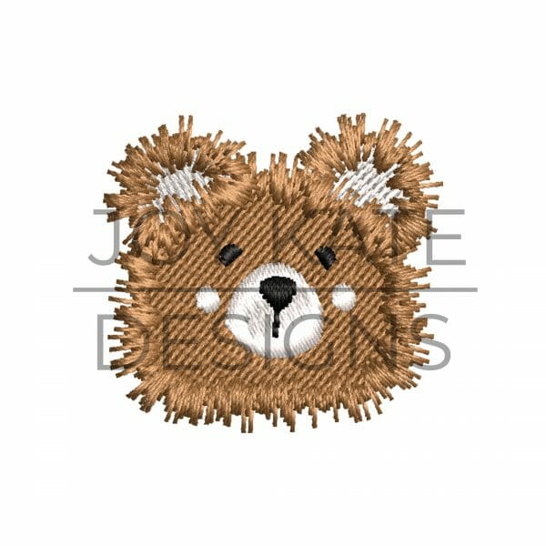 Mini Fill Stitch Teddy Bear Embroidery Design