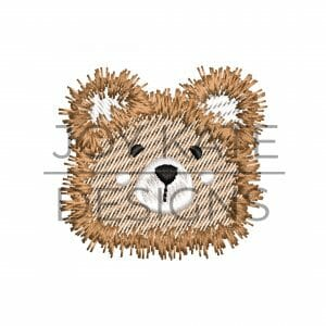 Mini Sketch Fill Stitch Teddy Bear Embroidery Design