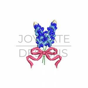 Mini Texas bluebonnet bouquet embroidery design