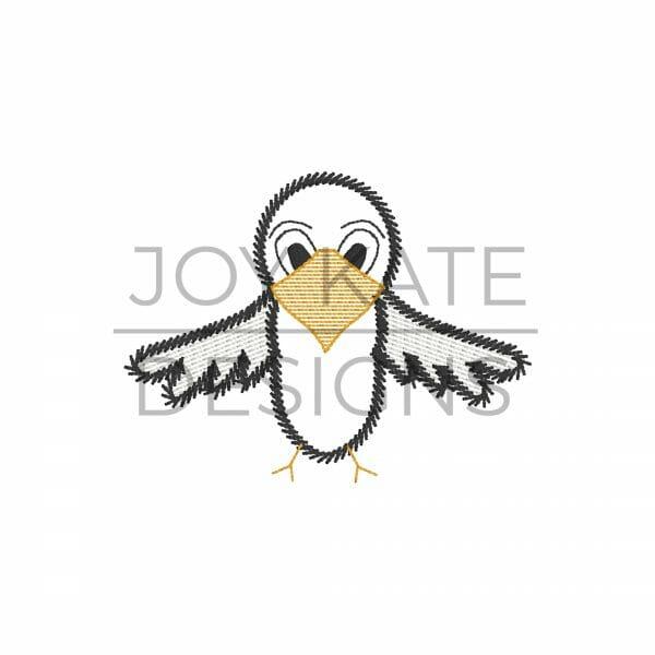 Mini vintage eagle embroidery design