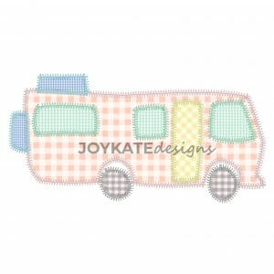 Motorhome Camping Applique Design for Machine Embroidery