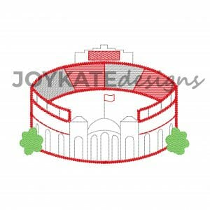 Vintage Quick Stitch Football Stadium in Ohio Design for Machine Embroidery