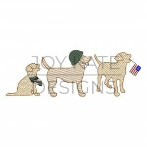 Military dogs sketch embroidery design