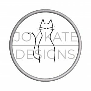 Cat Christmas ornament embroidery design