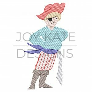 Vintage Pirate Boy Sketch Embroidery Design for Machine Embroidery