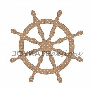 Pirate Ship Wheel Applique Design for Machine Embroidery