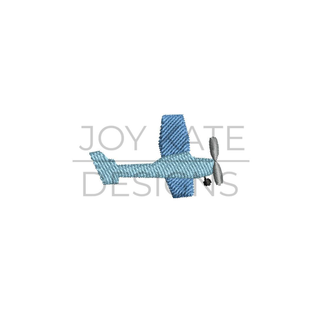 Propeller Airplane Mini Embroidery Design
