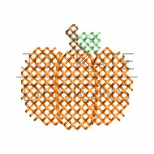 Cross stitch mini pumpkin design for machine embroidery