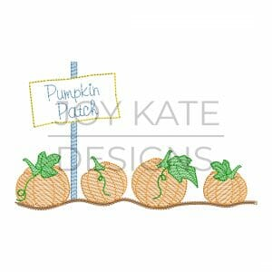 Pumpkin Patch Light Fill/Low Density Embroidery Design