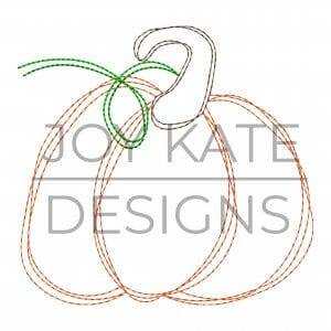 Scribble fall pumpkin embroidery design