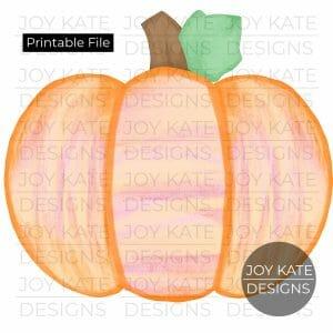 Pumpkin watercolor PNG image