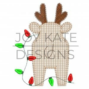 Reindeer Tail Applique Design for Machine Embroidery