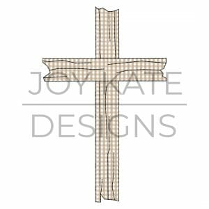 Vintage Cross Bean Stitch Applique Design