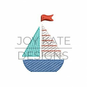 Mini sailboat embroidery design