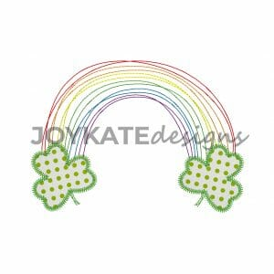 Quick Bean Stitch Rainbow with Zigzag Stitch Clover Leaves for St. Patrick's Day