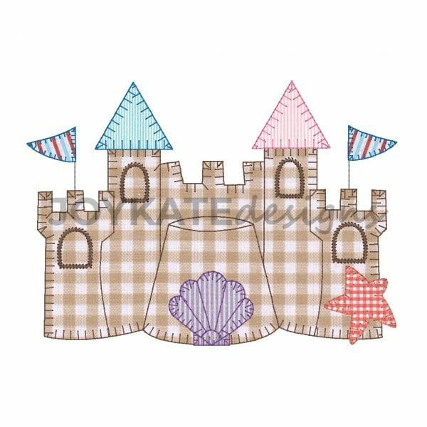 Sand Castle Applique for Machine Embroidery