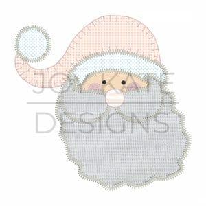 Santa Claus Christmas Applique Design for Machine Embroidery