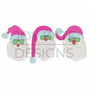 Santa Claus with Sunglasses Sketch Design for Machine Embroidery