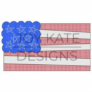 Scallop American Flag Vintage  Applique Design for Machine Embroidery