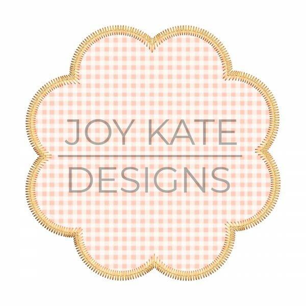 Zigzag Scallop Applique Patch Machine Embroidery Design