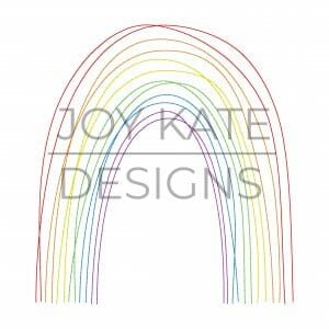 Scribble rainbow embroidery design