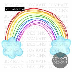 Rainbow watercolor PNG clipart image