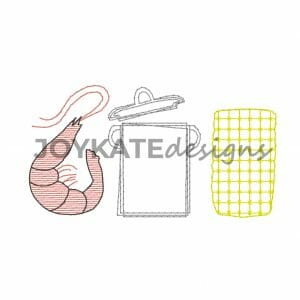 Bean Stitch and Light Fill Shrimp Boil Trio for Machine Embroidery