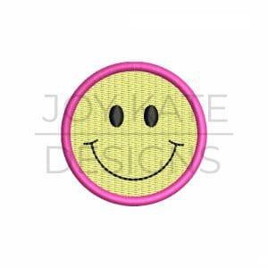 Smiley Face Mini Fill Stitch Design for Machine Embroidery