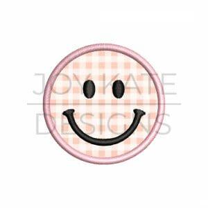Smiley Face Mini Satin Stitch Applique Design for Machine Embroidery