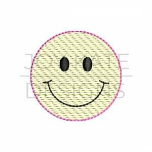 Smiley Face Mini Sketch Stitch Design for Machine Embroidery