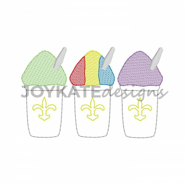 Light Fill and Bean Stitch Sno Ball Design for Machine Embroidery